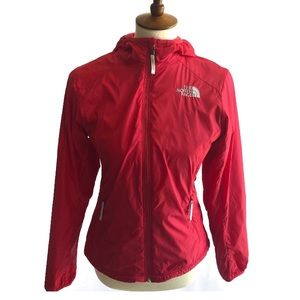 NORTH FACE BERRY PINK/RED FLEECE LINED ZIP JACKET
